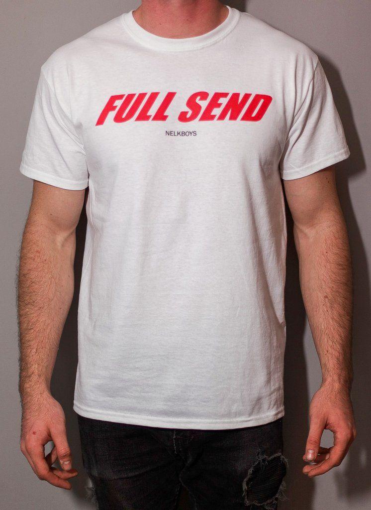 Full Send Unisex T-Shirt Red Text   Christmas list   Mens