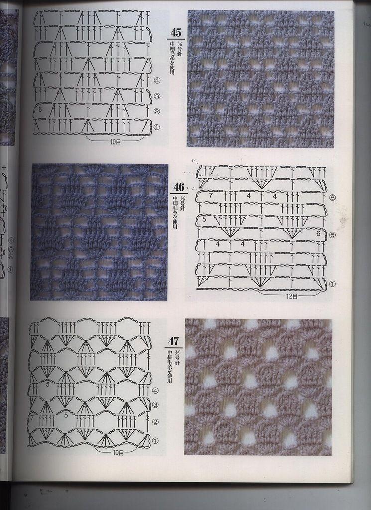 MUCHAS VARIEDADES DE PUNTOS A CROCHET | Patrones Crochet ...