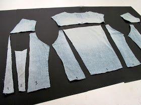 Käyttämättömäksi jäänyt   vanha farkkutakki.   Toinen, strechfarkkutakkini   on mukavampi päällä.           Olen yrittänyt   keksi...