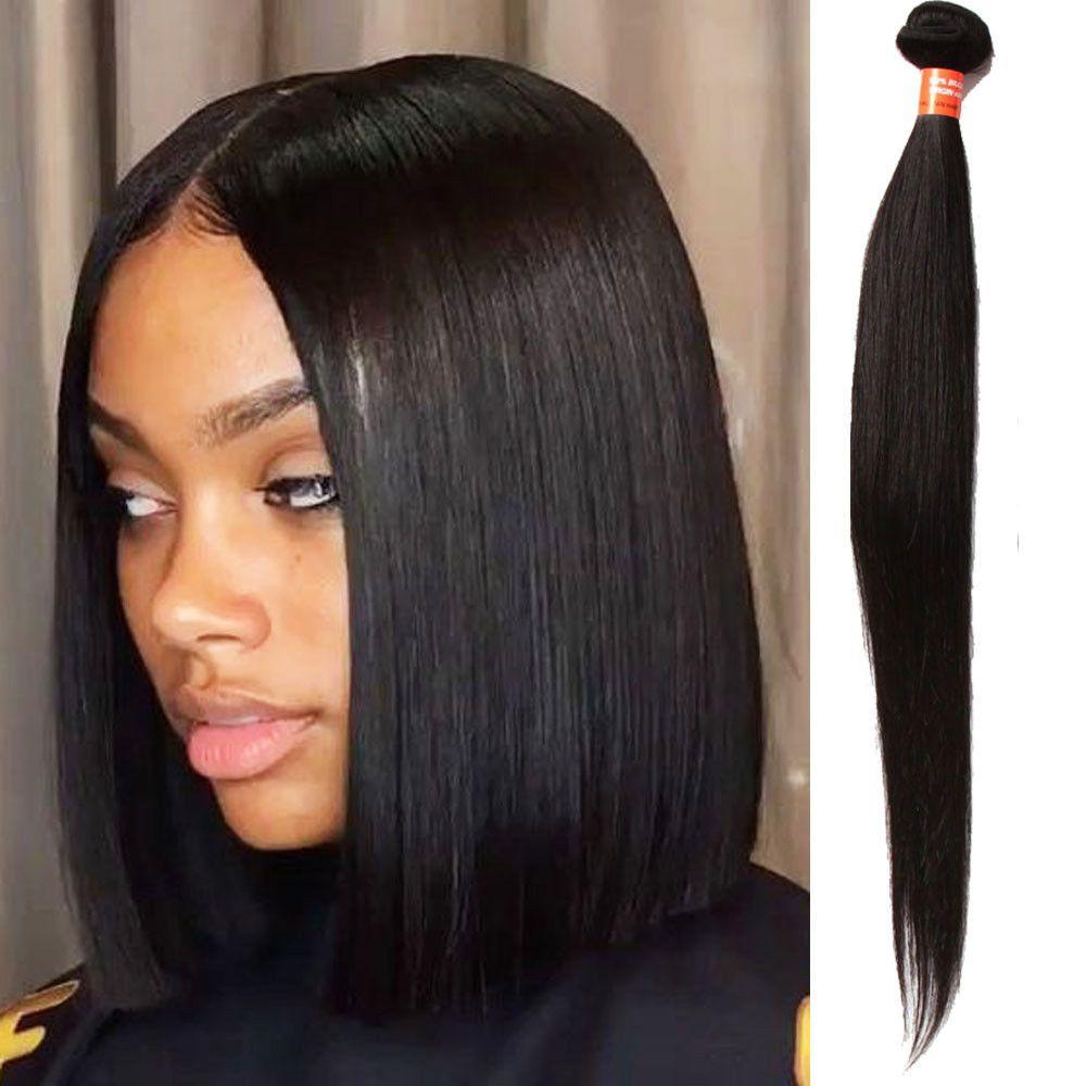 3bundles 14 300g Real Human Hair Extension 7a Silky Straight Hair