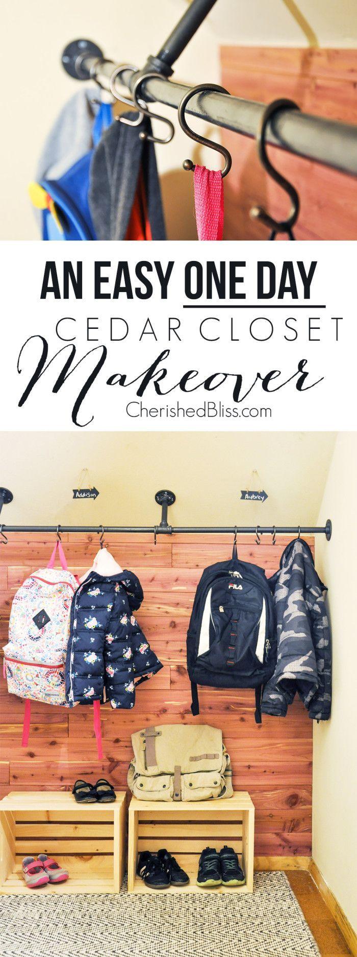 diy cedar closet makeover pinterest cedar closet storage ideas