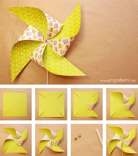 Como-hacer-molinillos-de-papel-que-gira-DIY--paper-Pinwheels - imagenes de manualidades