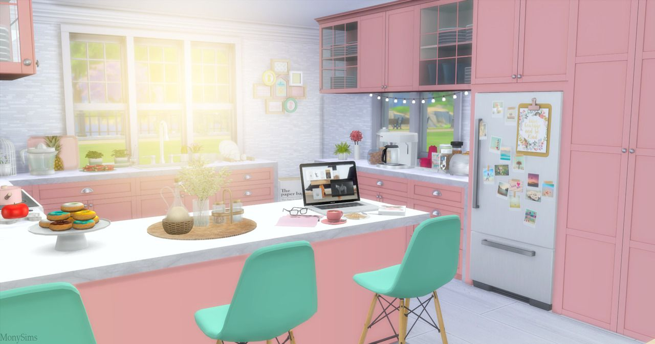 Lana Cc Finds Monysims4 New Kitchen To Download Here Sims House Living Room Background Cute Room Ideas