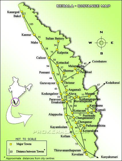 Kerala Distances, Kerala Road Distance Map | India in 2019 | Kerala on map of india with distance, india tourist map, map of tamilnadu with distance, india map with cities with distance, map of rajasthan with distance, india map outline, india road network, south india map with distance, karnataka map with distance, india national highway network map,