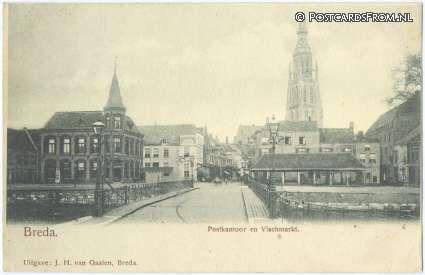 Postkantoor en oude vismarkt