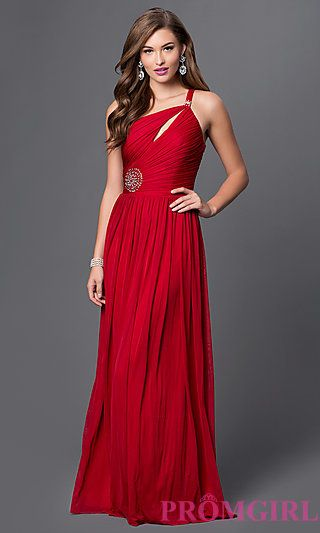 Floor-Length One-Shoulder Prom Dress