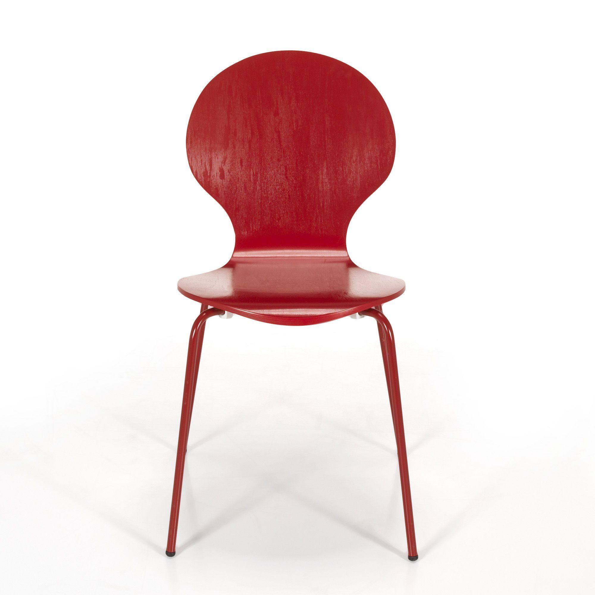 Chaise rouge rétro Rouge Maddy Les chaises et tabourets