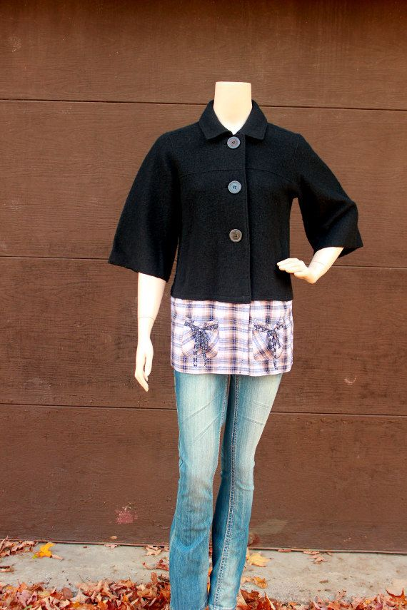 Hey, I found this really awesome Etsy listing at http://www.etsy.com/listing/166232079/revival-upcycled-womens-wool-jacket-boho