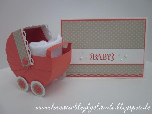 Www.kreativblogbyclaudi.blogspot.de: baby karte und stubenwagen