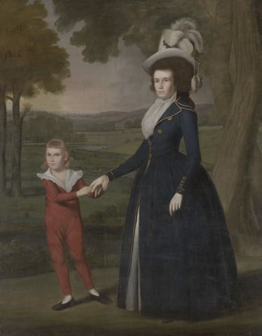 Mrs. William Moseley (Laura Wolcott), (1761-1814) and her son Charles, (1786-1815) ~ 1791, by Ralph Earl