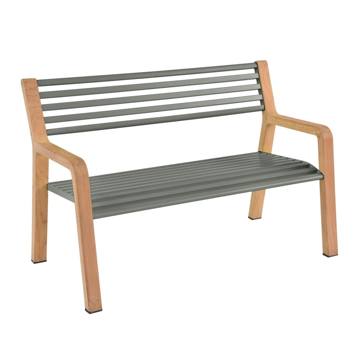 Somerset Bank Von Fermob Connox Gartenbank Metall Somerset Teak Holz