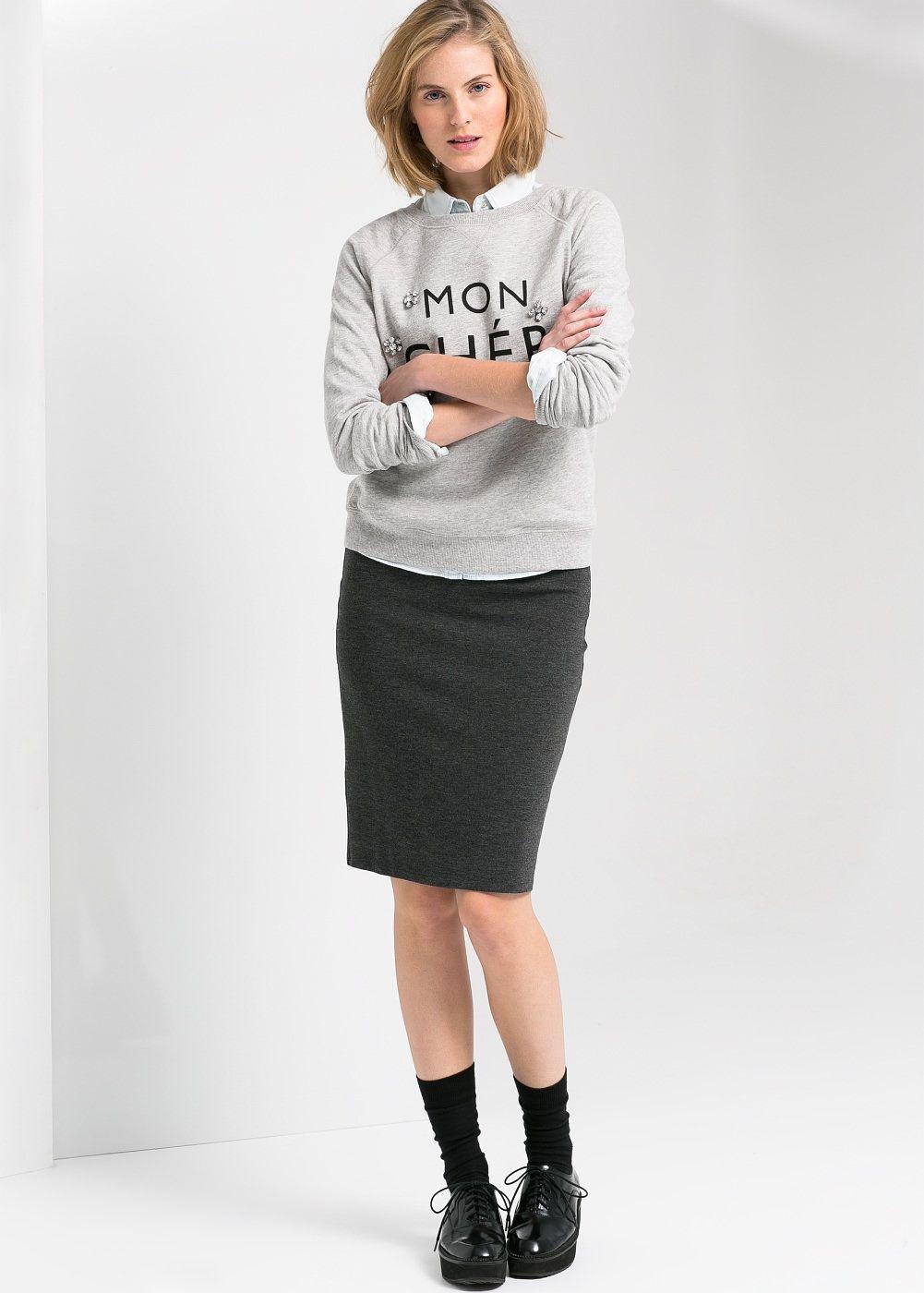 jupe crayon en maille femme pimkie buste pinterest jupes crayon jupe et mode. Black Bedroom Furniture Sets. Home Design Ideas