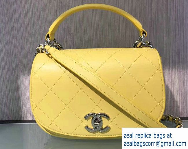 b0f4d9751146 Chanel Small Coco Flap Top Handle Messenger Bag Yellow 2017 ...