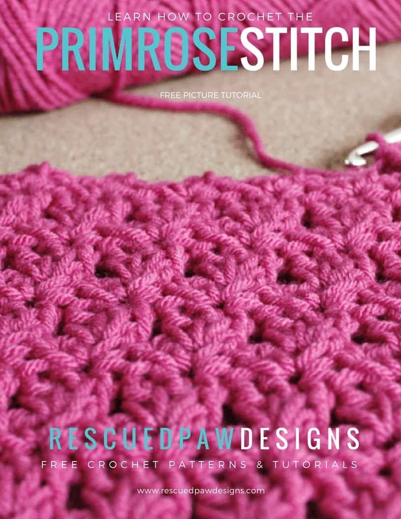Crochet Primrose Stitch Tutorial - Free Pattern | Pinterest ...