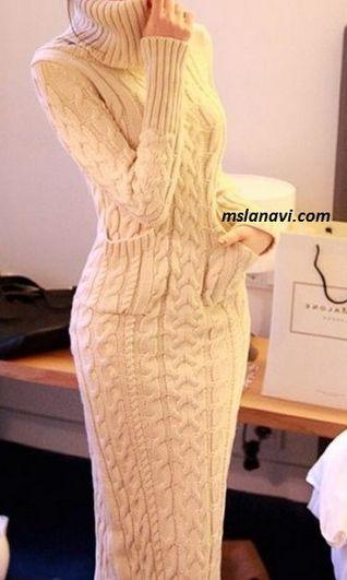 туники спицами самое интересное в блогах вязание платья и