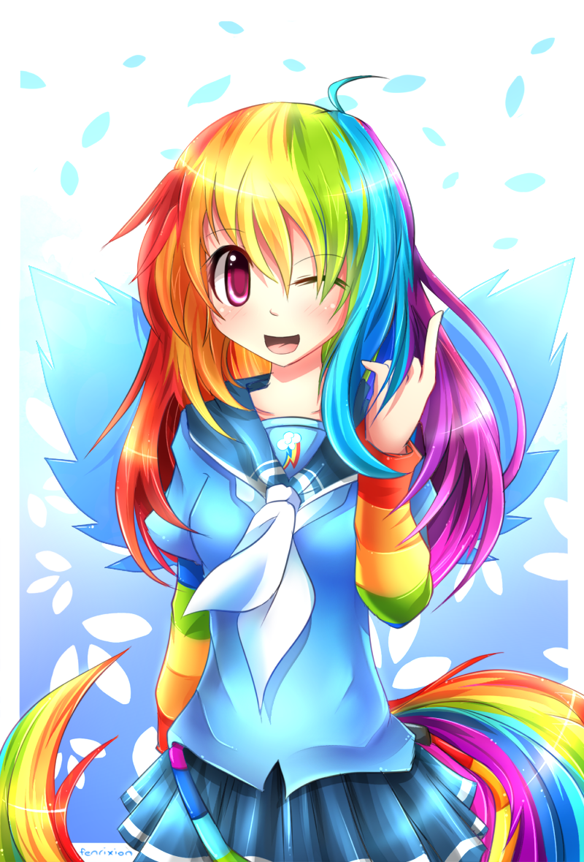 MLP Gakusei : Rainbow Dash by Fenrixion on http://fenrixion ...