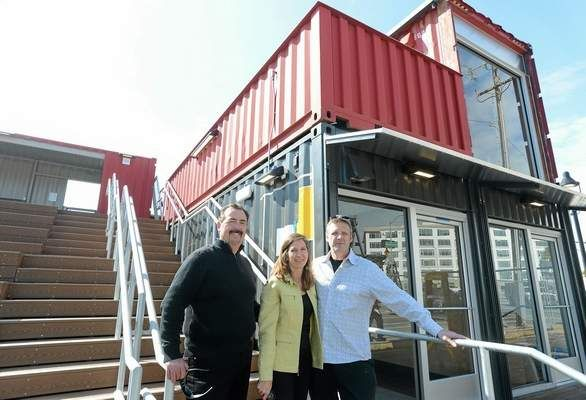 Shipping Containers Take On New Life In The Yard Shipping Container Used Shipping Containers New Life