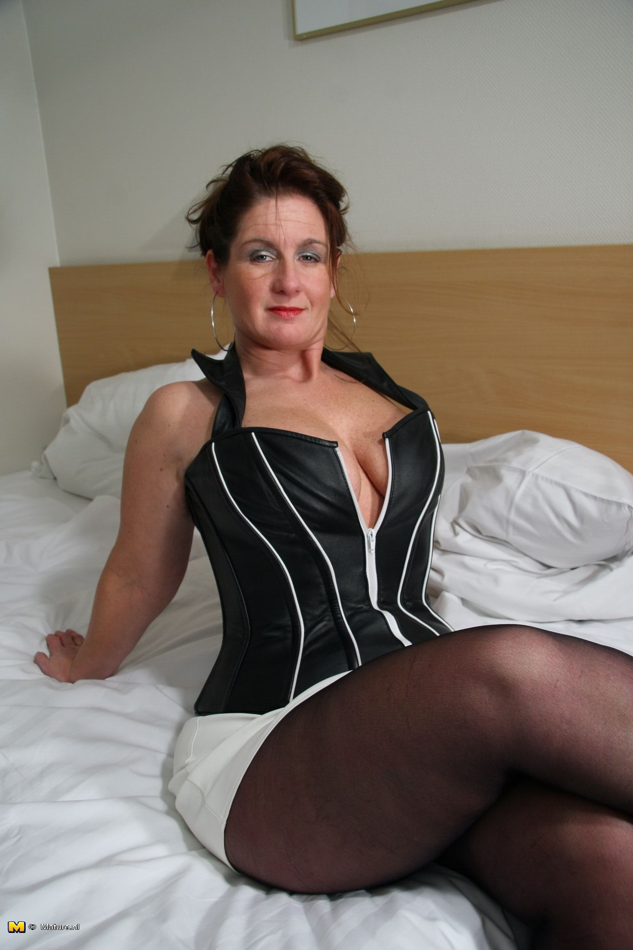 Mature older woman showing mature