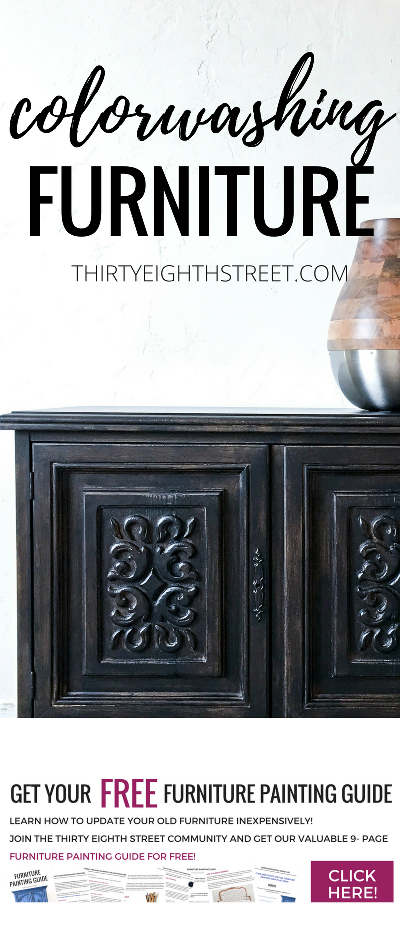 how to color wash furniture easily with paint pinterest