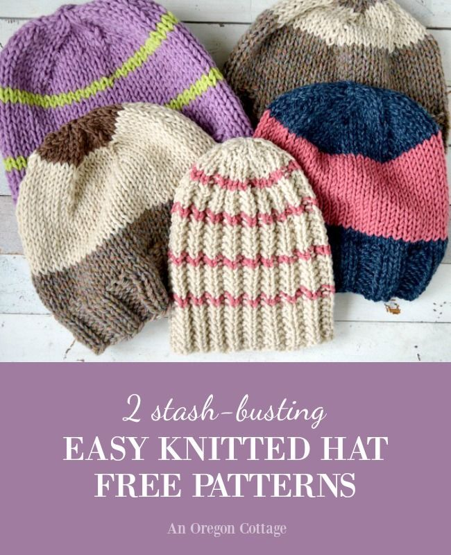 2 Stash Busting Knitted Hat Patterns 31 Days Of Handmade Gifts