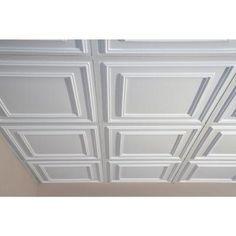 Ceilume Cambridge White 2 Ft X 2 Ft Lay In Or Glue Up Ceiling Panel Case Of 6 V3 Cam 22wto 6 Deckenpaneele Schlafzimmerrenovierung Und Kellerumbau