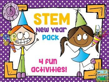 four fun and engaging stations for learners to not only make but take home to use in their own new years eve celebrations