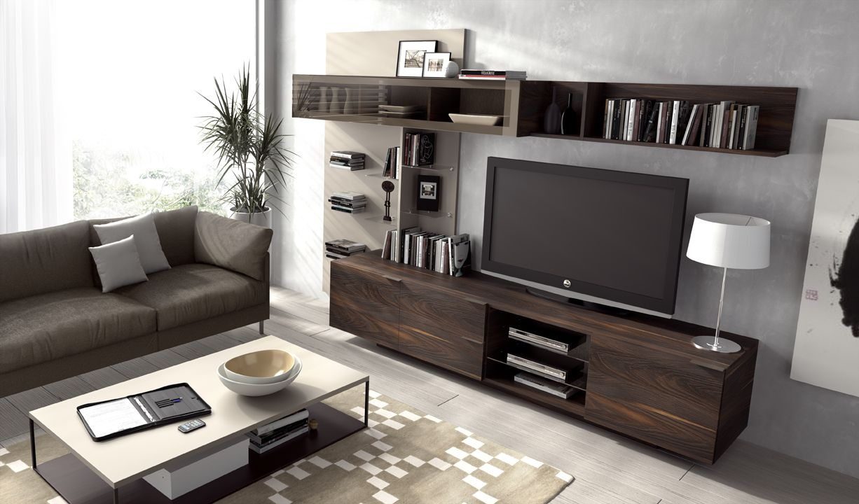 Mueble Tv Composicion 15 Linea Iline De La Marca Piferrer  # Table Pour La Television