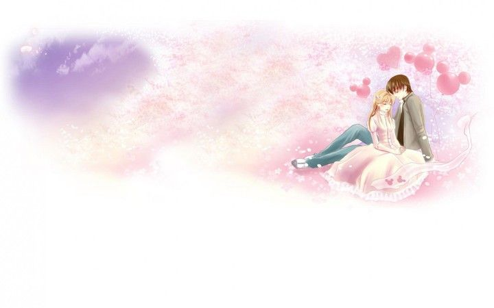 Anime Art Two Couple Tenderness Dating Love Hd Wallpaper By BillGate