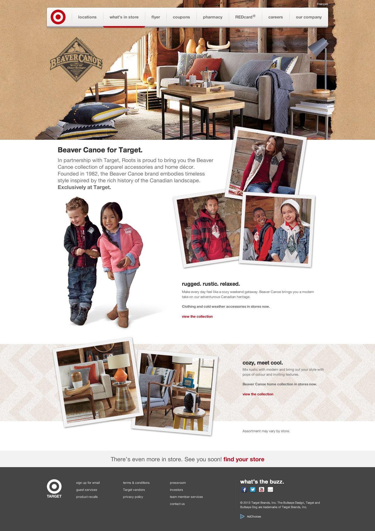 Beaver Canoe For Target Target Ca Canada Website Homepage Website Design Ecommerce Brand Web Development Design Fun Website Design Web Design