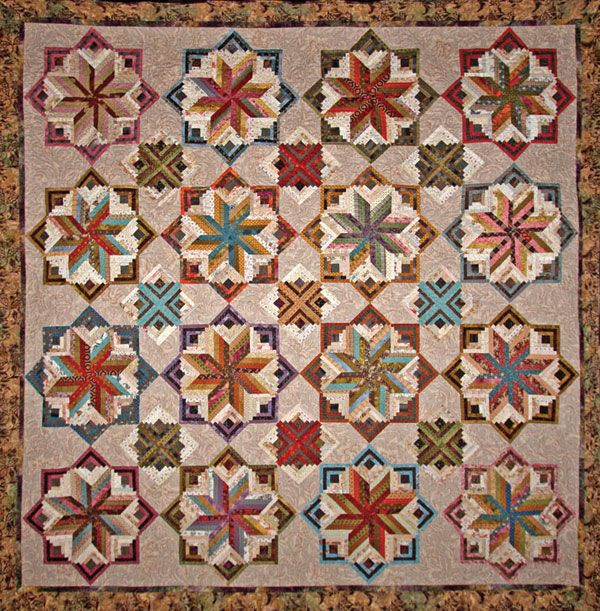 Gorgeous log cabin style variation by Laundry Basket Quilts ... : log cabin style quilts - Adamdwight.com