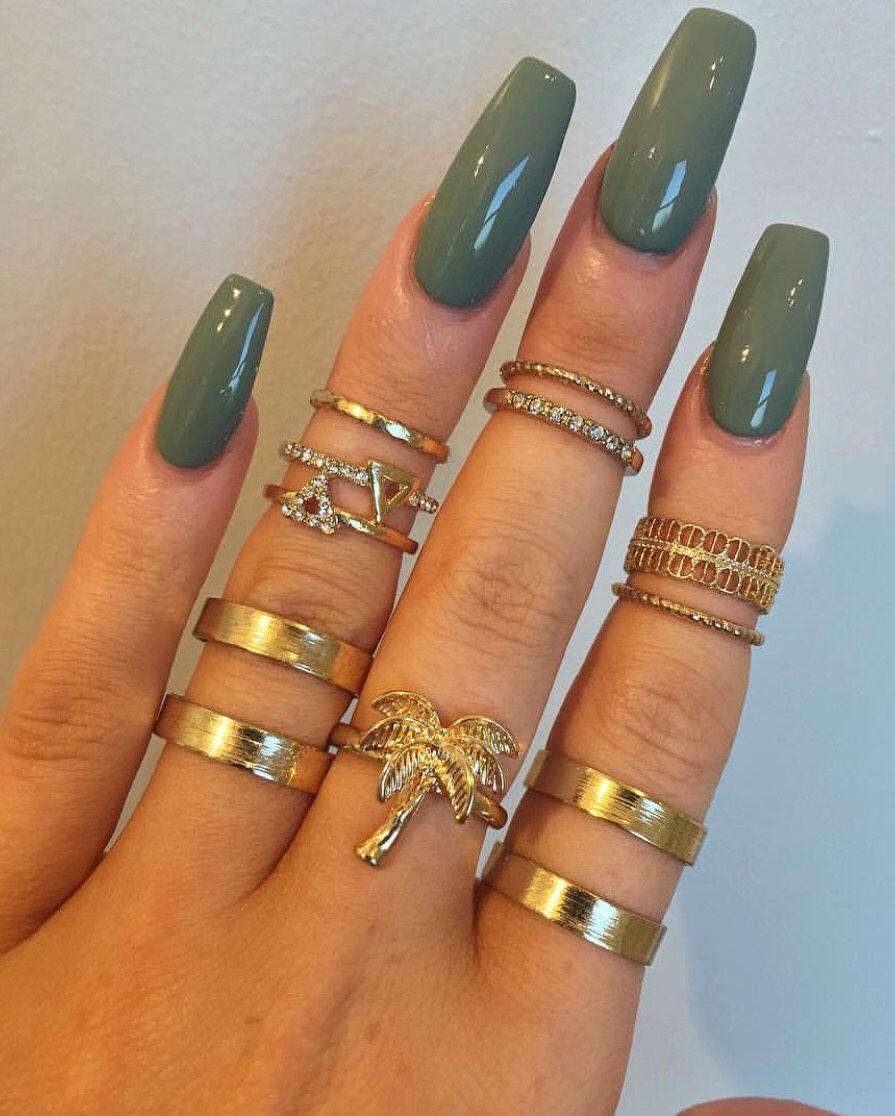 pinterest: @ nandeezy † | Coffin Nails | Pinterest | Make up, Nail ...