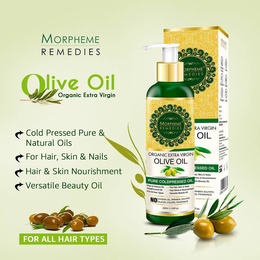 Morpheme Remedies Pure Coldpressed Organic Extra Virgin Olive Oil Natural Hair Oils Organic Extra Virgin Olive Oil Olive Oil Hair