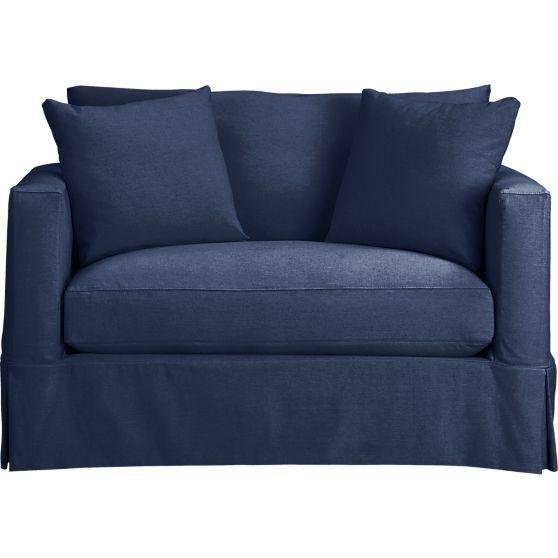 Willow Modern Slipcovered Twin Sleeper Sofa Home Chair
