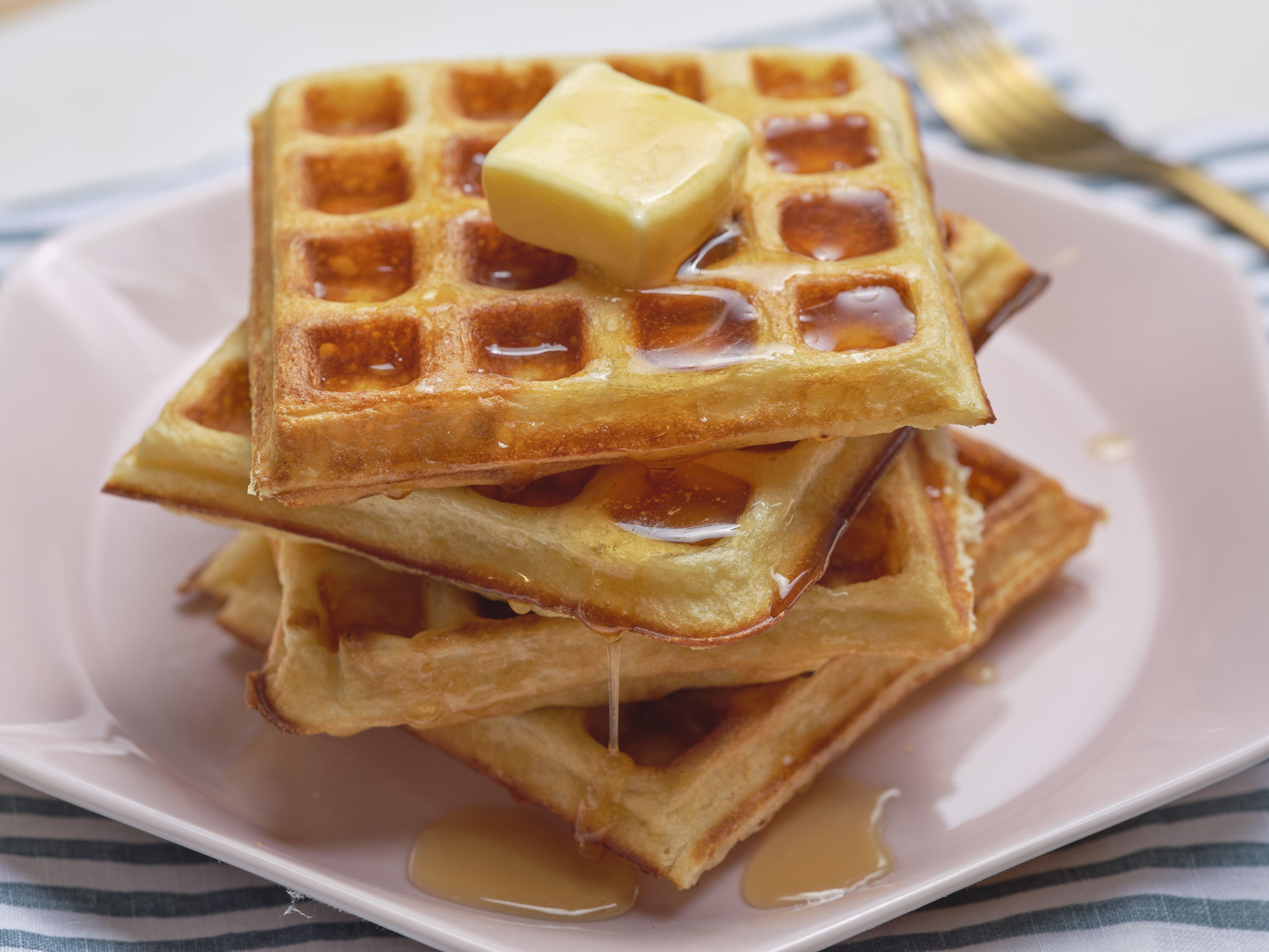 The Best Buttermilk Waffles Recipe In 2020 Buttermilk Waffles Food Network Recipes Waffle Recipes