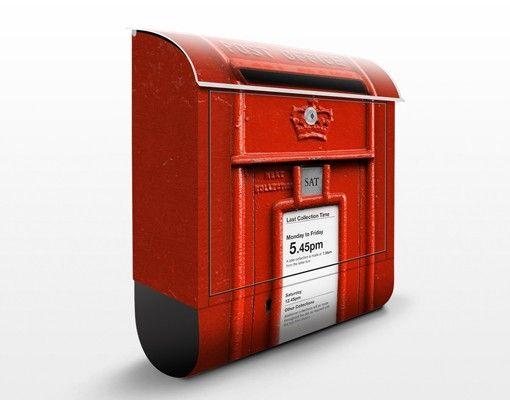 Englischer Briefkasten Briefkasten In Uk Mit Zeitungsfach