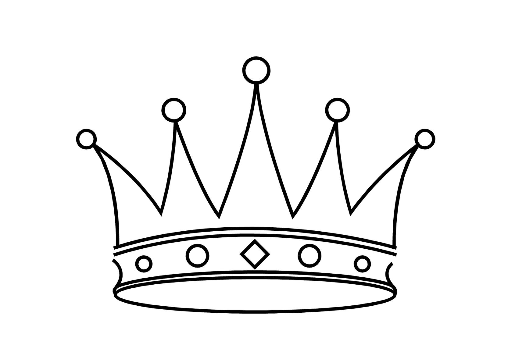 Princess Crown Cake Template Clipart