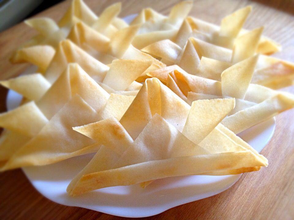 kie's dish photo 兜のかたちのクリームチーズ春巻き | http://snapdish.co #SnapDish #レシピ