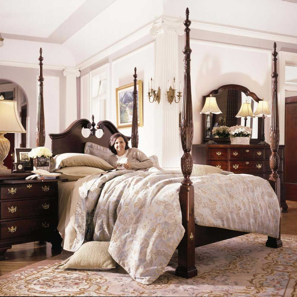 Carriage House King Broken Pediment Rice Bed By Kincaid Furniture   Pilgrim  Furniture City   Poster