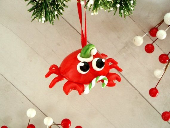 Crab Christmas Ornament Beach Christmas Decorations Beach Ornaments Gag  Gifts Silly Ornaments Funny - Crab Christmas Ornament Beach Christmas Decorations Beach Ornaments