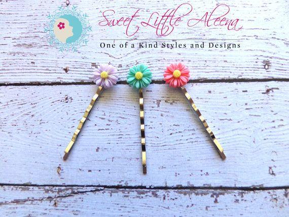 Hair Accessories Bobby Pins for Women Pink por SweetLittleAleena