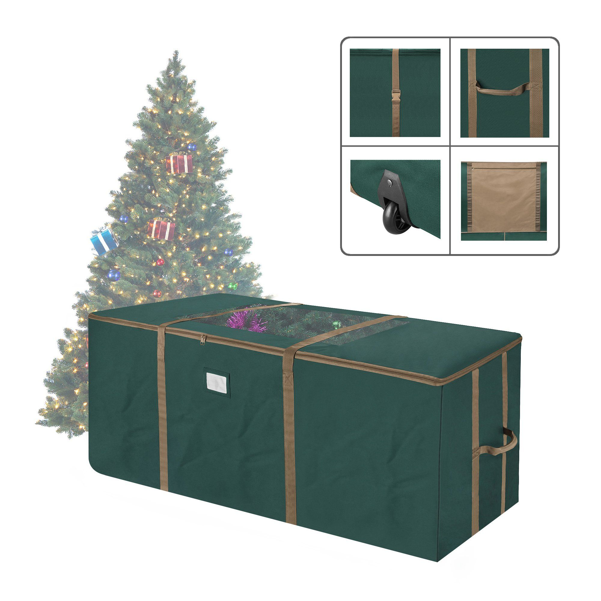 Elf Stor 83dt5171 Rolling Duffel Style Christmas Storage Bag With Window For 12 Foot Tree G Christmas Tree Storage Bag Christmas Tree Storage Tree Storage Bag