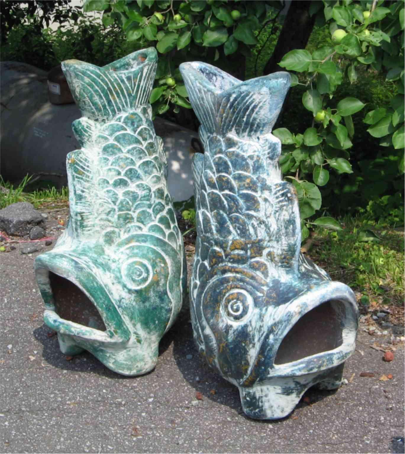 fish chiminea modified mexican clay design i broke mine looking