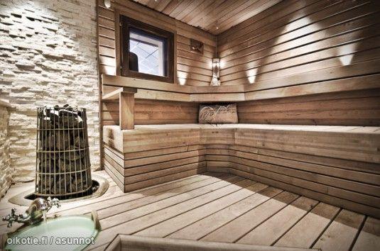 Myynnissa Omakotitalo Leppakorpi Vantaa Oikotieasunnot Sauna Kiuas Mokkityyli Kylpyhuoneideat Sauna