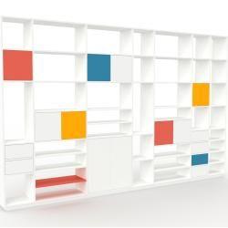 Photo of Regalsystem Weiß – Regalsystem: Schubladen in Weiß & Türen in Weiß – Hochwertige Materialien – 380 x