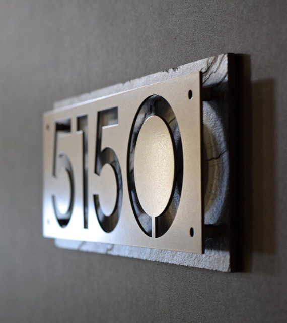 Style B Rustic Natural Slate Door Number House Gate Sign Plaque Sign Personalised Printed Colour Name Plate