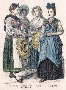 Costumes des maraichères de Colmar