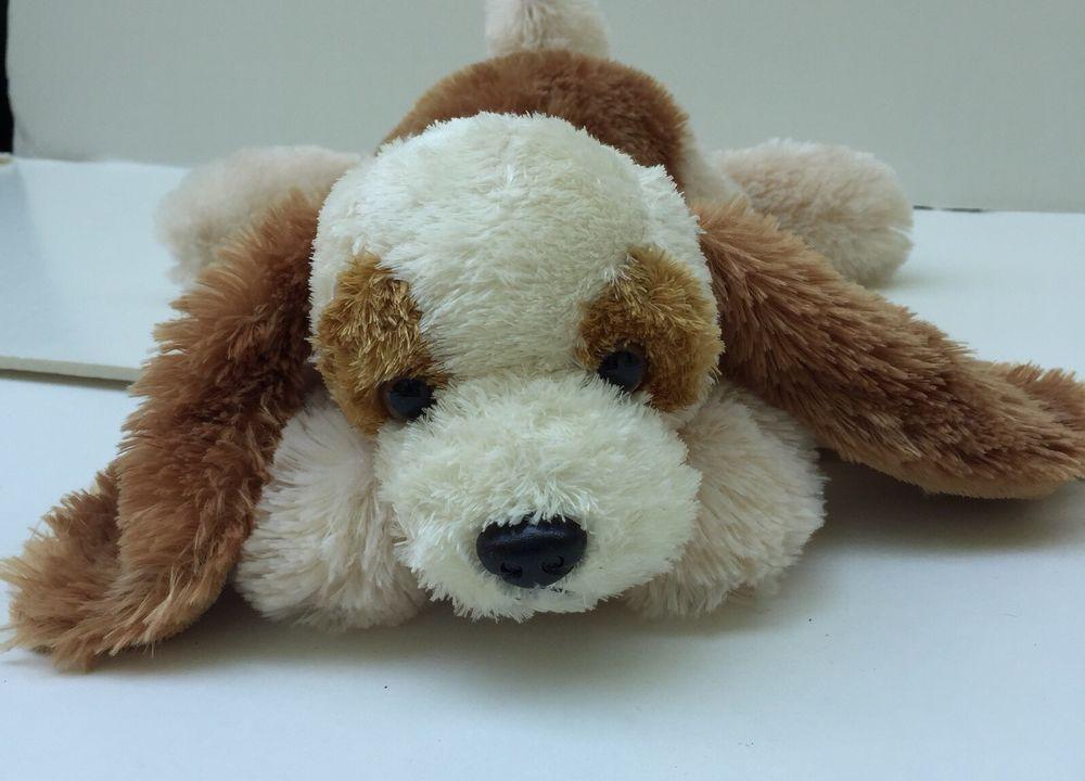 People Pals Plush Cocker Spaniel Dog Brown Ivory Puppy Soft Floppy