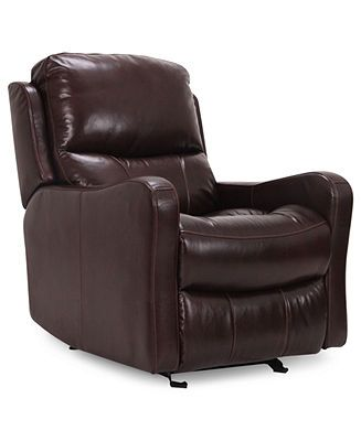 Oliver Leather Seating with Vinyl Sides u0026 Back Power Recliner Chair 31W x 39D x  sc 1 st  Pinterest : leather power recliner chair - islam-shia.org