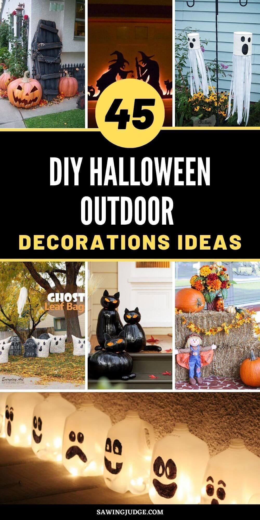 45 Best Diy Halloween Outdoor Decorations Ideas Halloween Diy Outdoor Halloween Decorations Diy Outdoor Outdoor Halloween