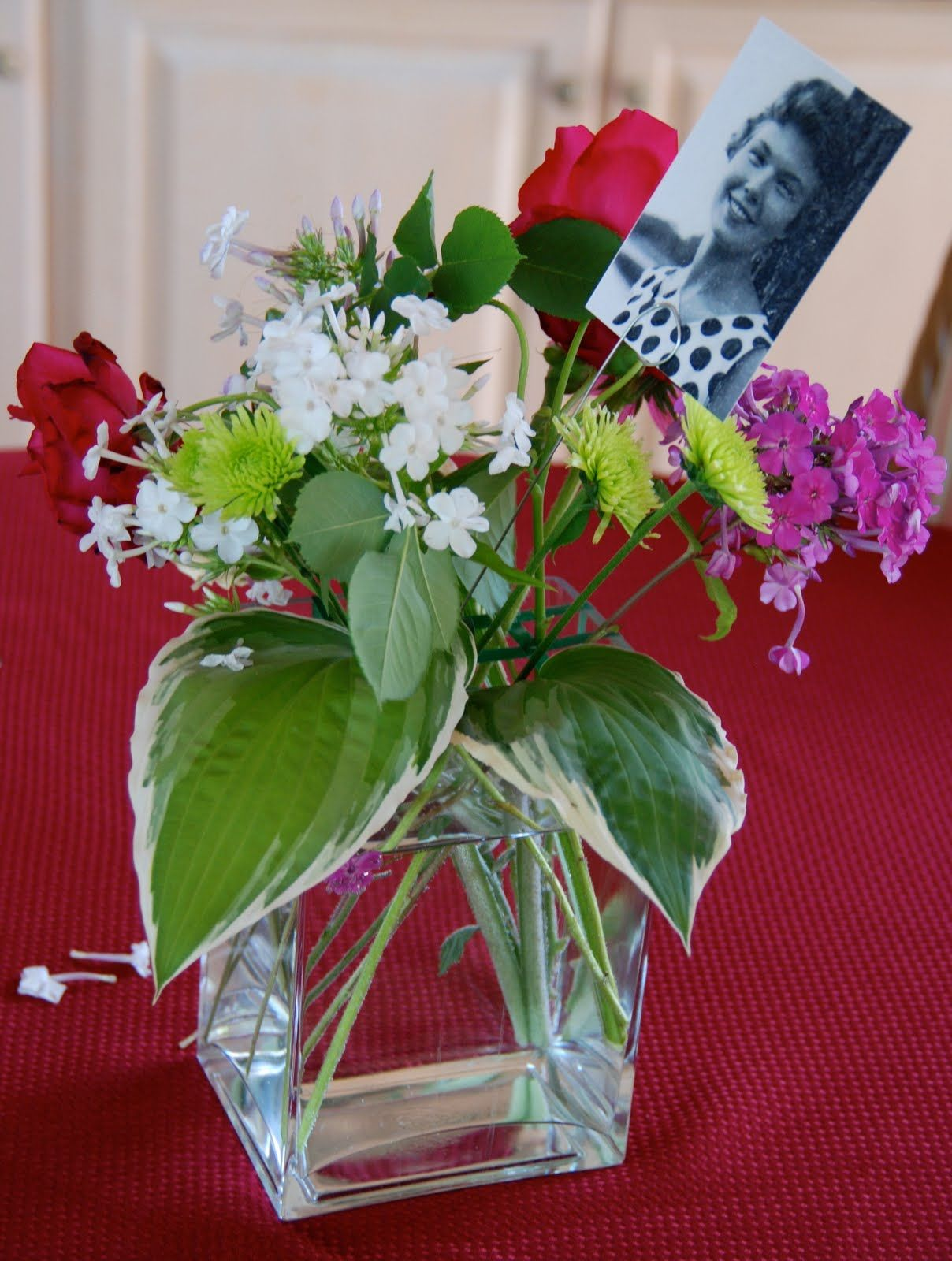 Centerpiece ideas for 70th birthday centerpieces from her although my moms birthday was in may we decided to celebrate it in july when we could all be together my sister in law janet and dhlflorist Choice Image